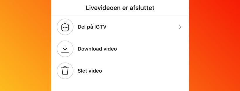 LIVE video og IGTV